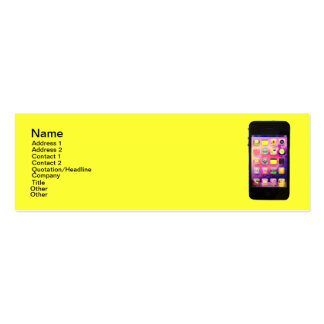 Long and Bright iPhone Pack Of Skinny Business Cards