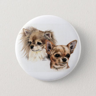 Long and smooth coat chihuahuas 6 cm round badge