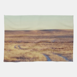 Long and Winding Road Landscape Kitchen Towel