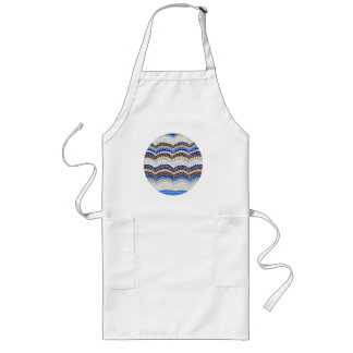 Long apron with blue mosaic