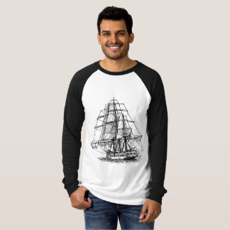 Long arm shirt with old ship.