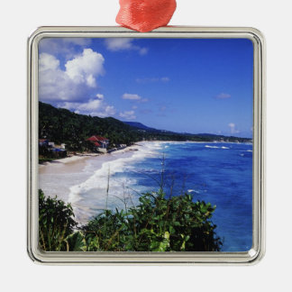 Long Bay, Port Antonio, Jamaica Silver-Colored Square Decoration