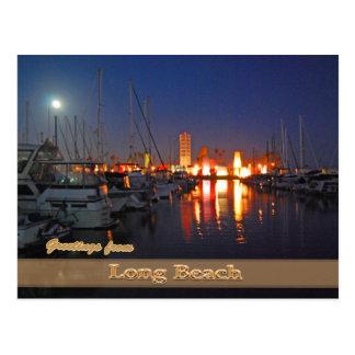 Long Beach At Night Post Cards