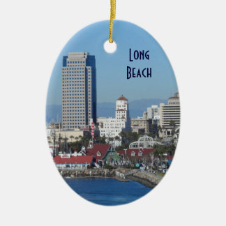 Long Beach, California Ceramic Ornament