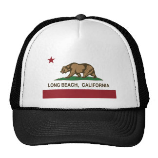 Long Beach California Republic Flag T-shirt Cap