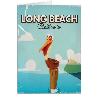 Long Beach California Vintage Pelican travel Card