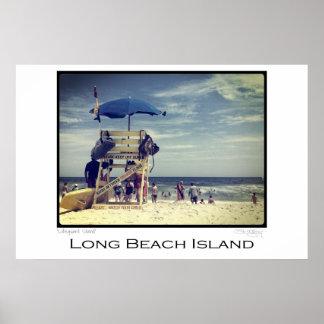 Long Beach Island Lifeguard Stand Poster