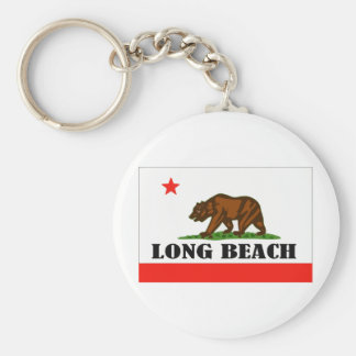 Long Beach -- Products Basic Round Button Key Ring
