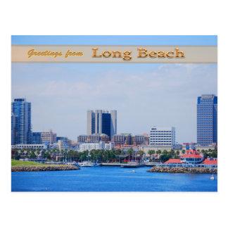Long Beach Skyline Post Card