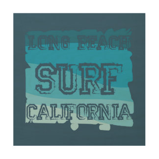 Long Beach Surf California Wood Wall Decor