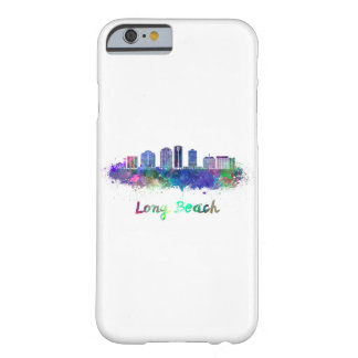 Long Beach V2 skyline in watercolor Barely There iPhone 6 Case
