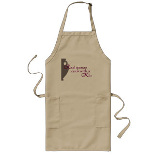 Long Beige Apron for Pottery Artist