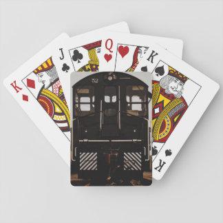Long Black Train Cards