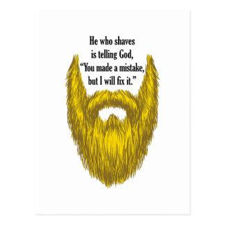 Long Blonde Beard Postcards