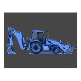 Long Blue Digger Customizable Card Construction Postcard