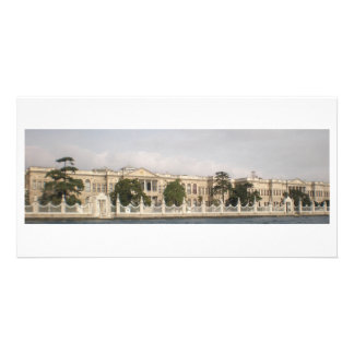 Long building personalized photo card