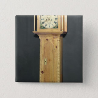Long-case clock, with enamel painting 15 cm square badge