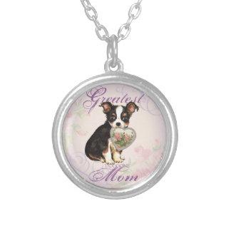 Long Coat Chihuahua Heart Mom Custom Jewelry