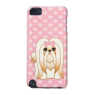 Long Coat Shih Tzu Puppy Dog Cartoon Animal iPod Touch (5th Generation) Cover