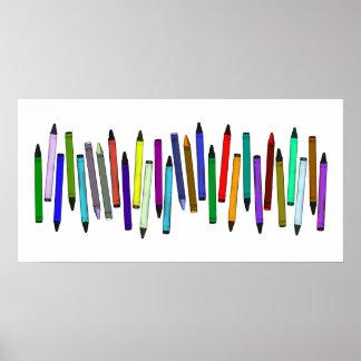Long Crayons Poster