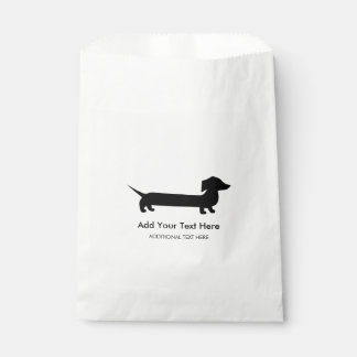 Long Dachshund Funny Drawing Favour Bag