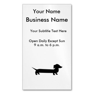 Long Dachshund Funny Drawing Magnetic Business Cards