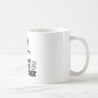 Long distance running basic white mug