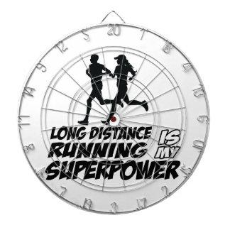 Long distance running dartboards