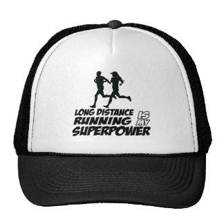 Long distance running mesh hats
