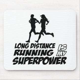 Long distance running mouse pad
