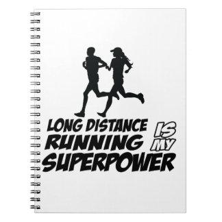Long distance running notebook
