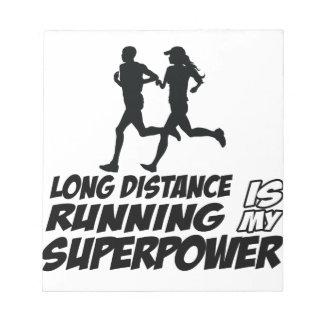 Long distance running memo pads