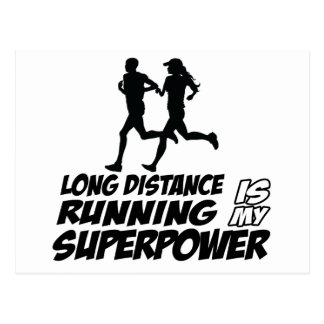 Long distance running postcard