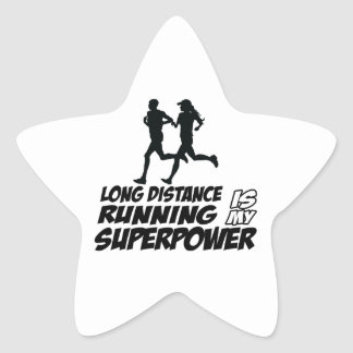 Long distance running stickers