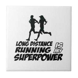 Long distance running tiles