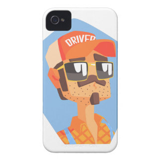 Long Distance Truck Driver Portrait Case-Mate iPhone 4 Cases
