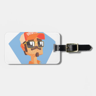 Long Distance Truck Driver Portrait Luggage Tag