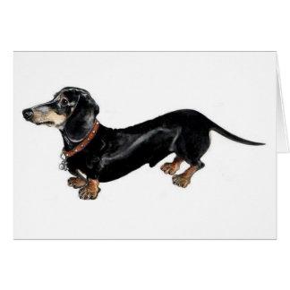 'long dog' dachshund greeting card