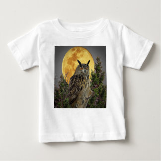 LONG EARED OWL BY MOONLIGHT BABY T-Shirt