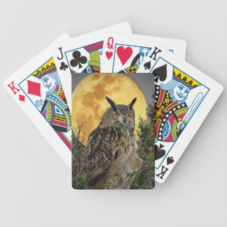LONG EARED OWL BY MOONLIGHT BICYCLE PLAYING CARDS