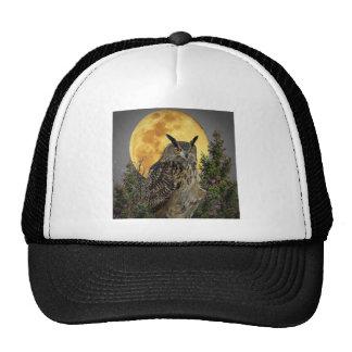 LONG EARED OWL BY MOONLIGHT CAP