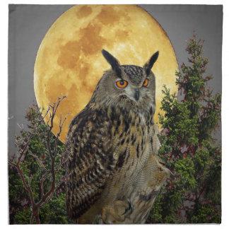LONG EARED OWL BY MOONLIGHT NAPKIN