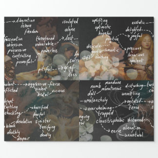 Long English Classroom Poster Poetry Mood Words Wrapping Paper