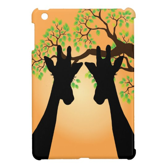 Long Eyelashes Giraffe iPad Mini Covers