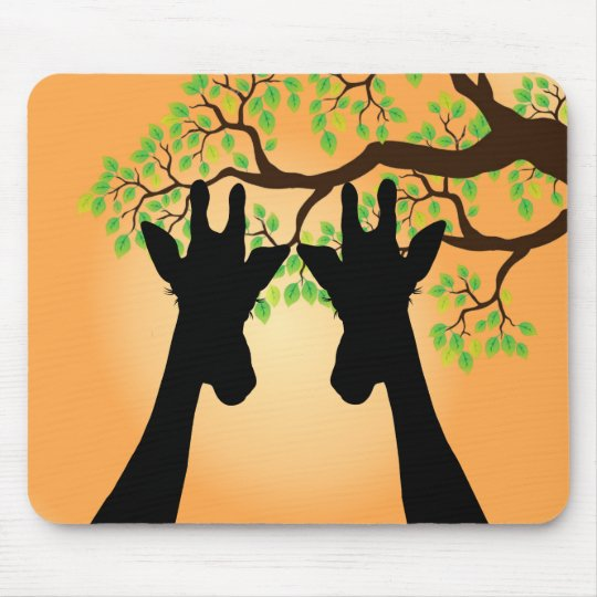 Long Eyelashes Giraffe Mouse Pad