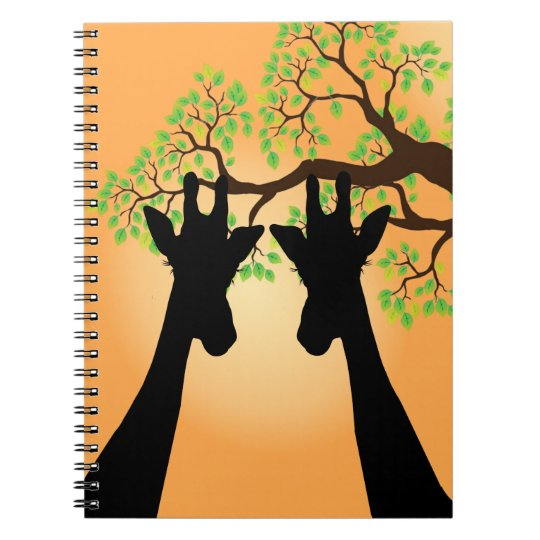 Long Eyelashes Giraffe Notebook