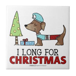 Long for Christmas-Dachshund Tile