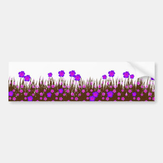 Long garden patch bumper sticker
