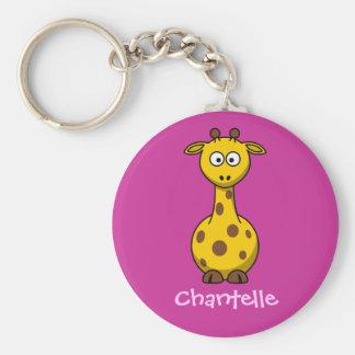 Long giraffe key ring