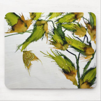 Long Green Pods and Butterfly MousePad